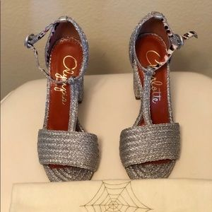 Authentic Charlotte Olympia Silver Sandals